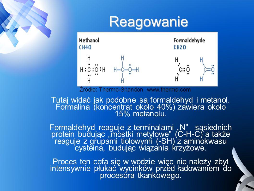 Reagowanie Źródło: Thermo-Shandon www.thermo.com.