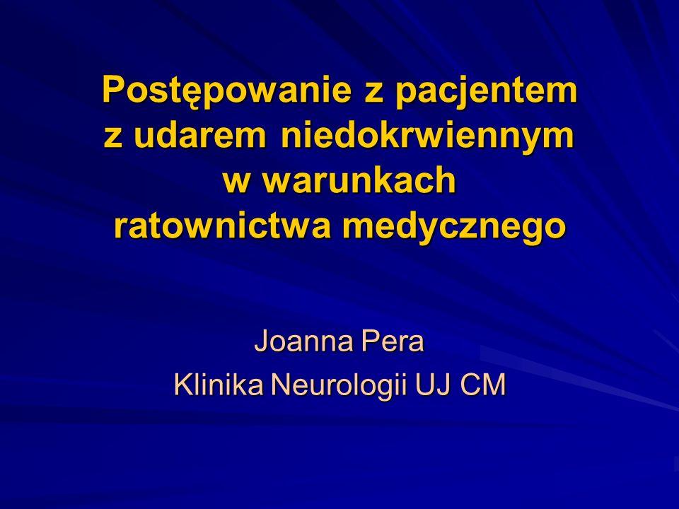 Joanna Pera Klinika Neurologii UJ CM