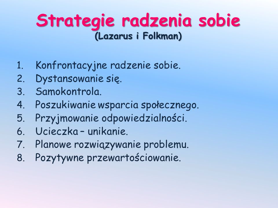 Strategie radzenia sobie (Lazarus i Folkman)