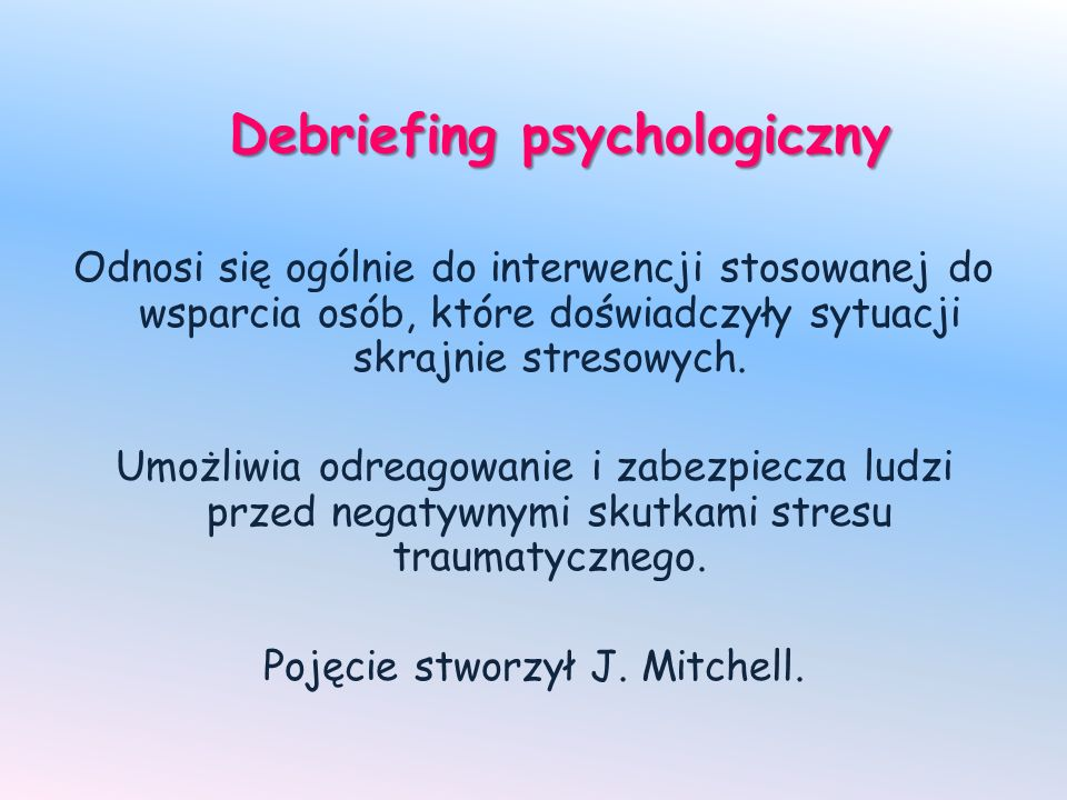 Debriefing psychologiczny