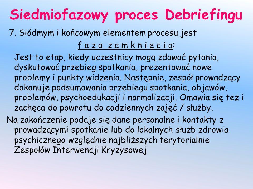 Siedmiofazowy proces Debriefingu