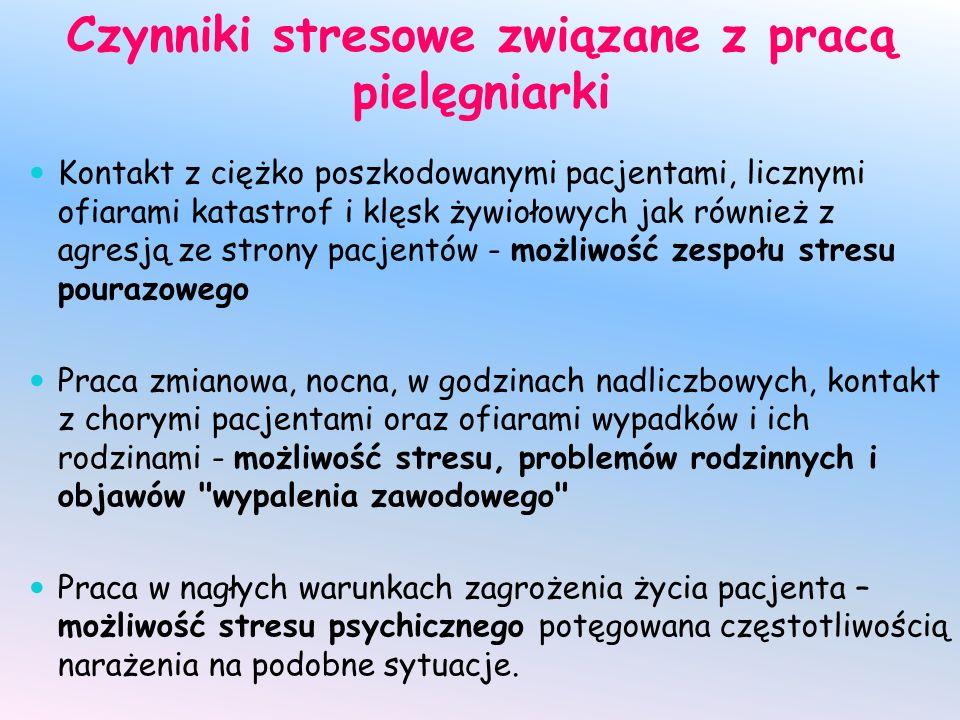 Czynniki stresowe związane z pracą pielęgniarki