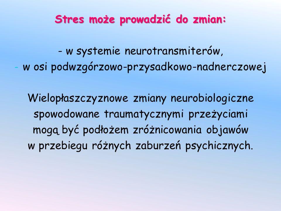 Stres może prowadzić do zmian: