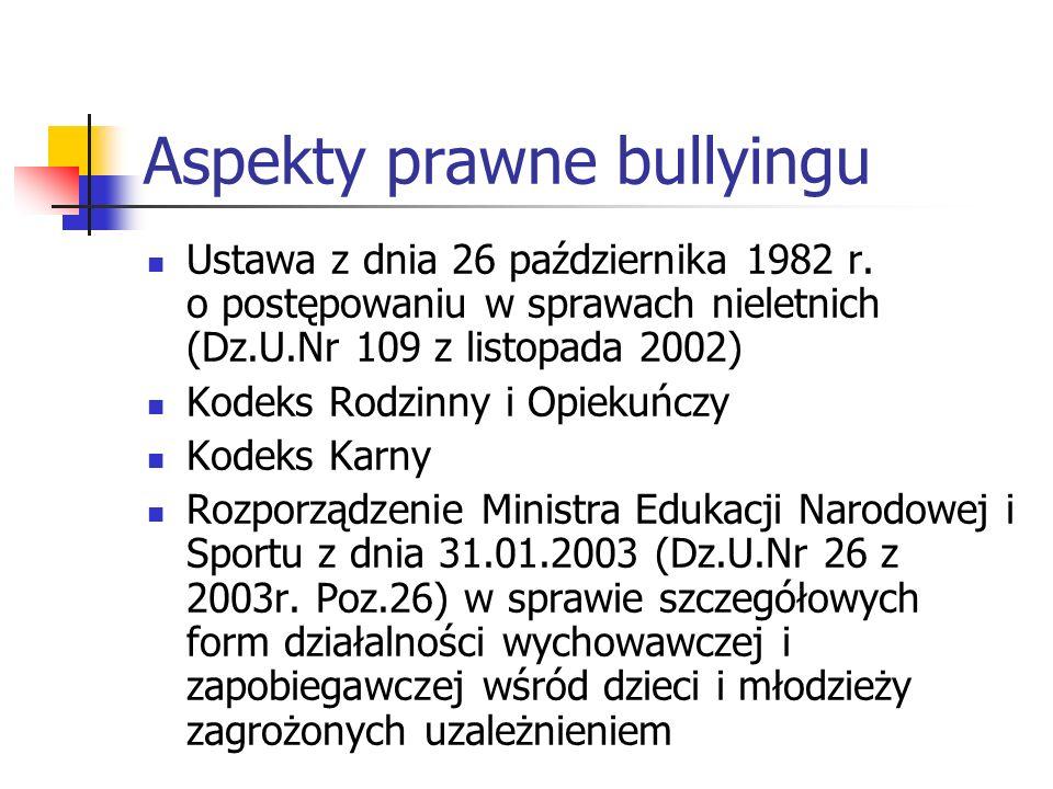 Aspekty prawne bullyingu