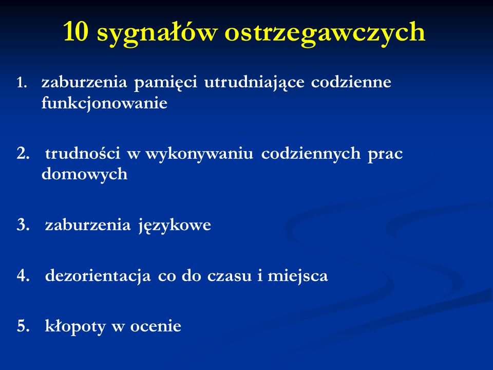 10 sygnałów ostrzegawczych