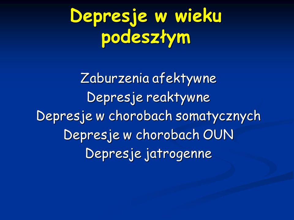 Depresje w wieku podeszłym