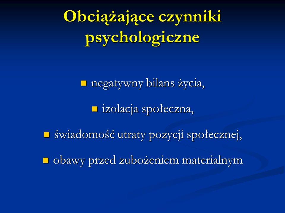 Obciążające czynniki psychologiczne