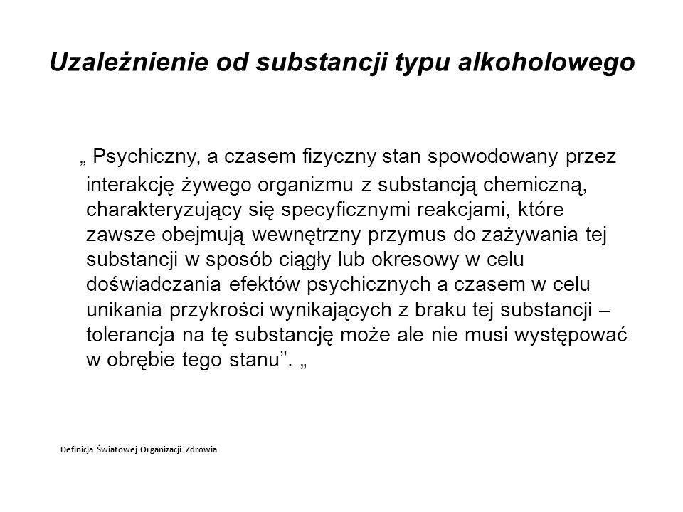 Uzależnienie od substancji typu alkoholowego