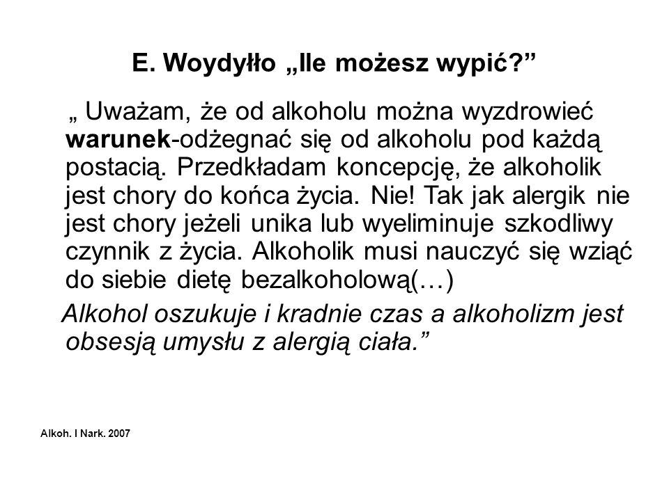 """E. Woydyłło """"Ile możesz wypić"""