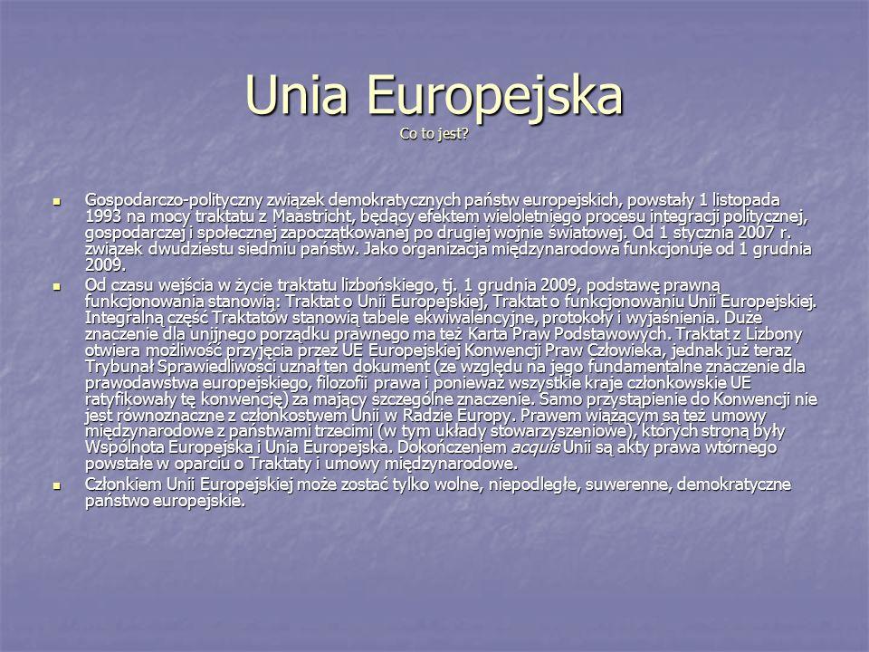 Unia Europejska Co to jest