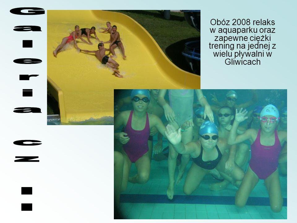 Obóz 2008 relaks w aquaparku oraz zapewne ciężki trening na jednej z wielu pływalni w Gliwicach