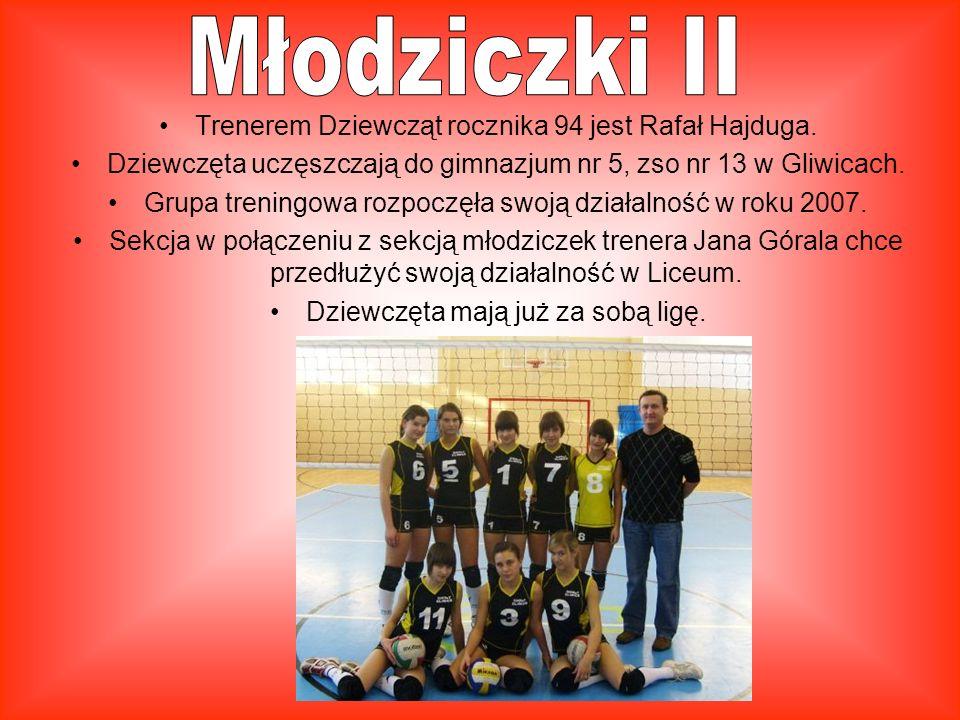 Młodziczki II Trenerem Dziewcząt rocznika 94 jest Rafał Hajduga.