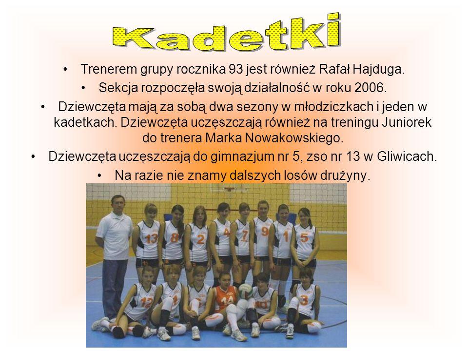 Kadetki Trenerem grupy rocznika 93 jest również Rafał Hajduga.
