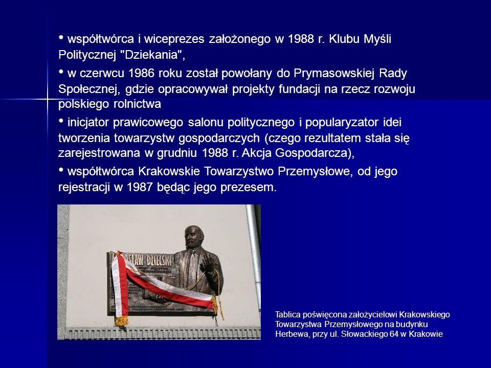 • współtwórca i wiceprezes założonego w 1988 r