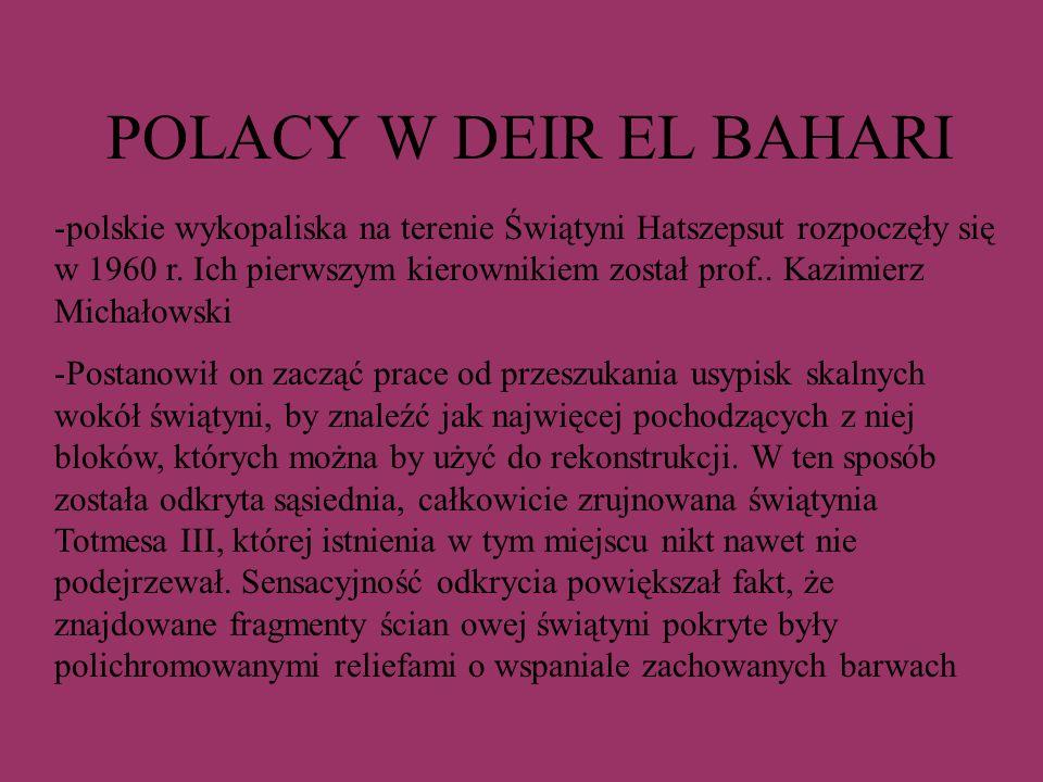 POLACY W DEIR EL BAHARI