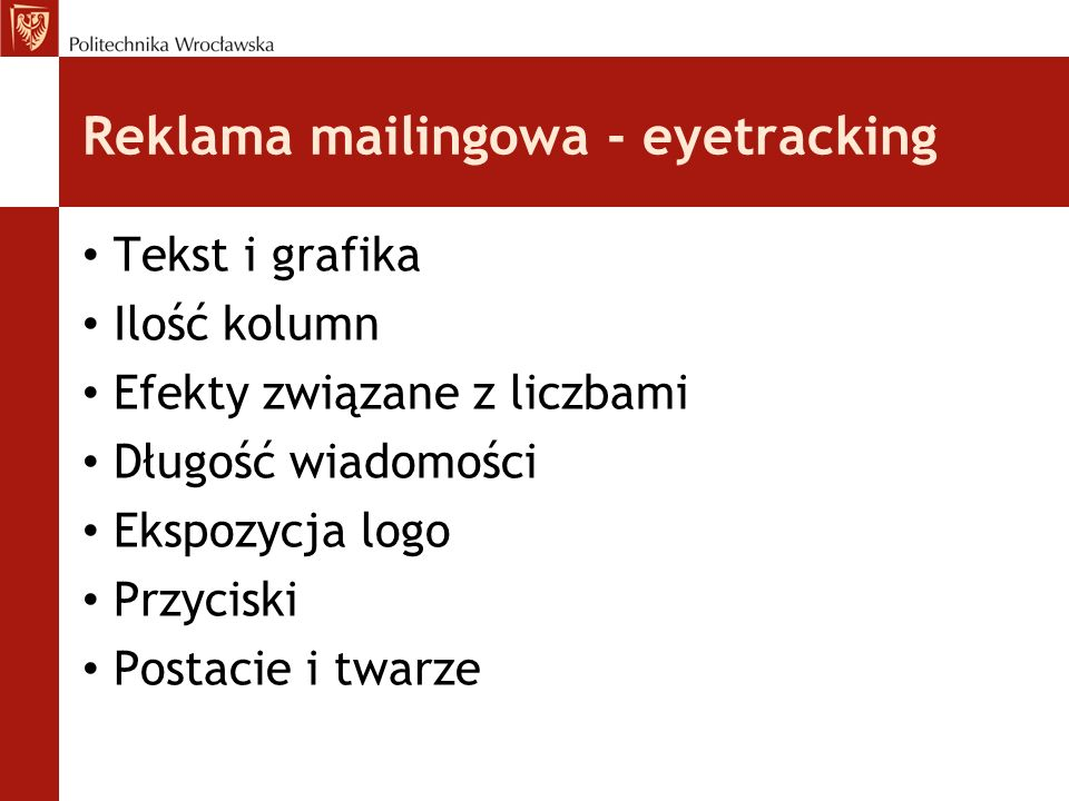 Reklama mailingowa - eyetracking
