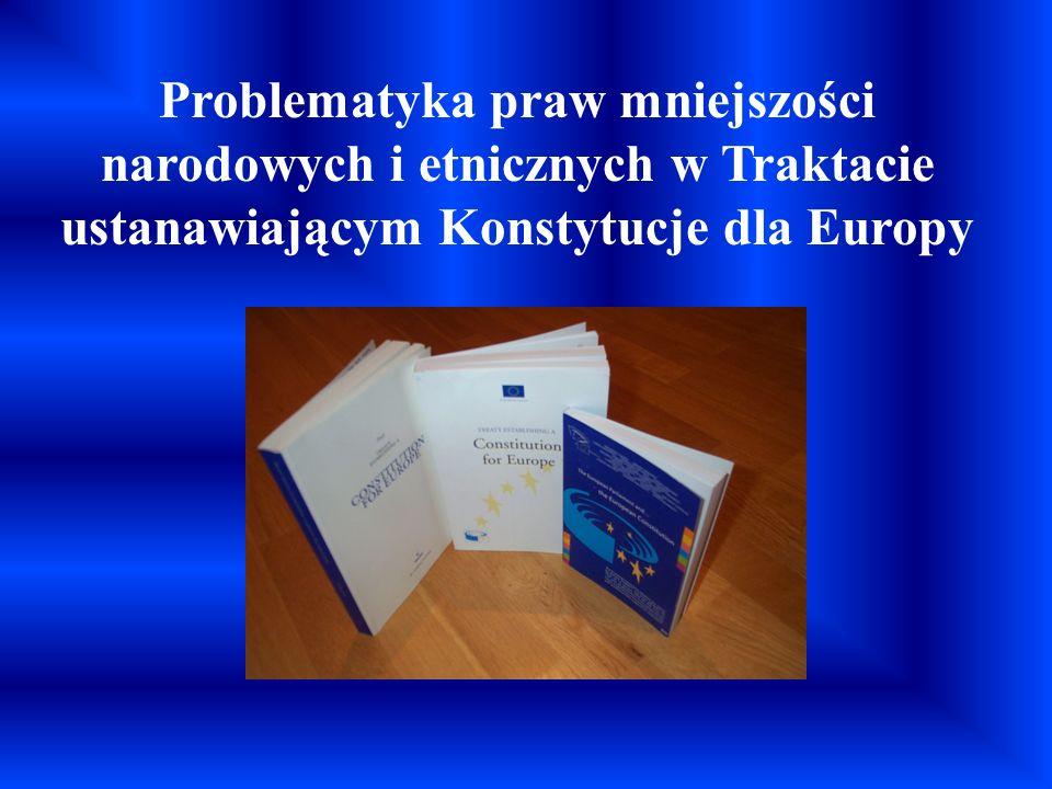 Problematyka praw mniejszości narodowych i etnicznych w Traktacie ustanawiającym Konstytucje dla Europy