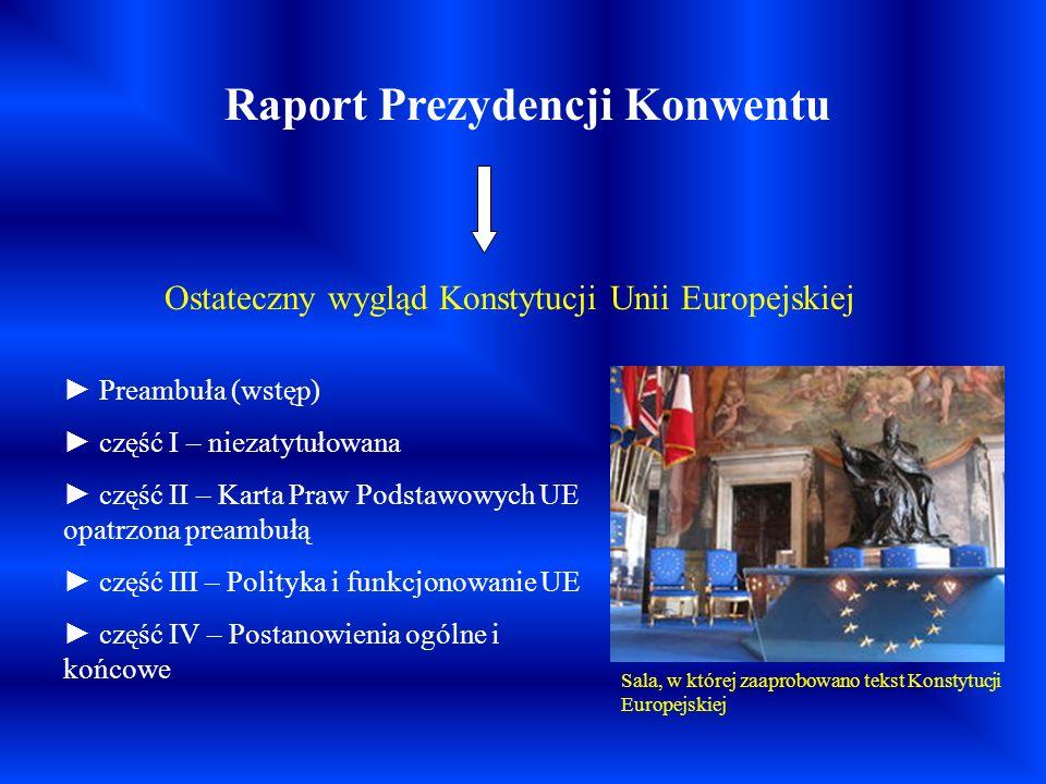 Raport Prezydencji Konwentu