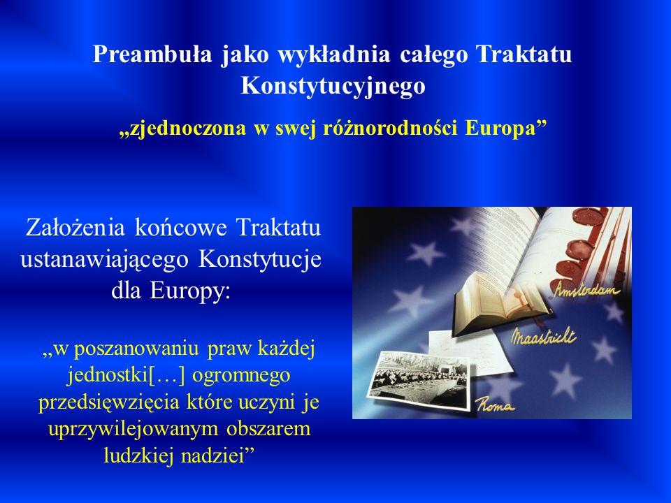 Preambuła jako wykładnia całego Traktatu Konstytucyjnego