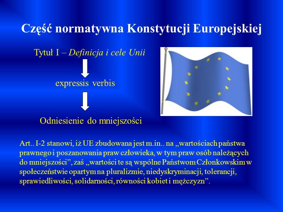 Część normatywna Konstytucji Europejskiej