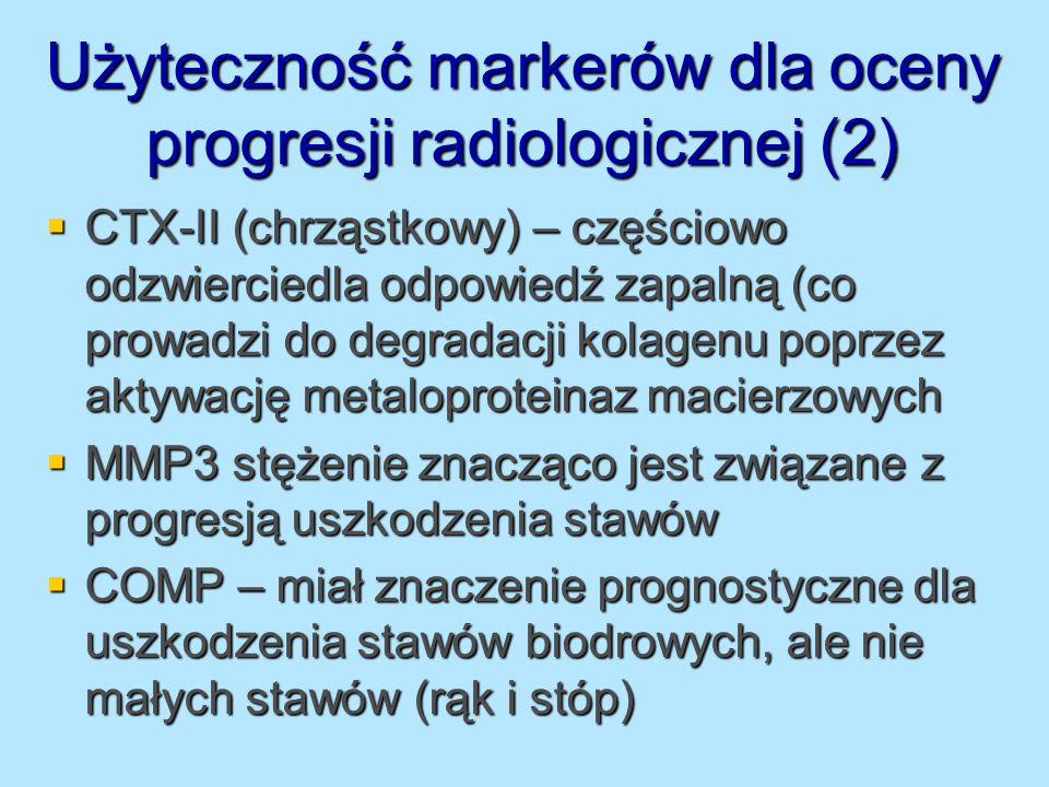 Użyteczność markerów dla oceny progresji radiologicznej (2)