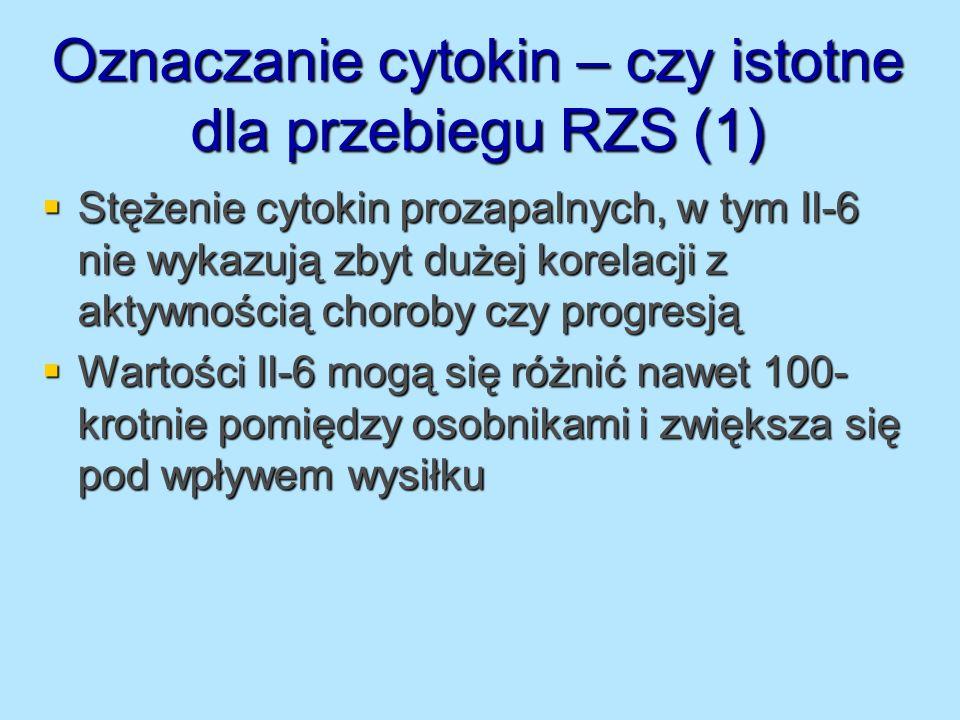 Oznaczanie cytokin – czy istotne dla przebiegu RZS (1)