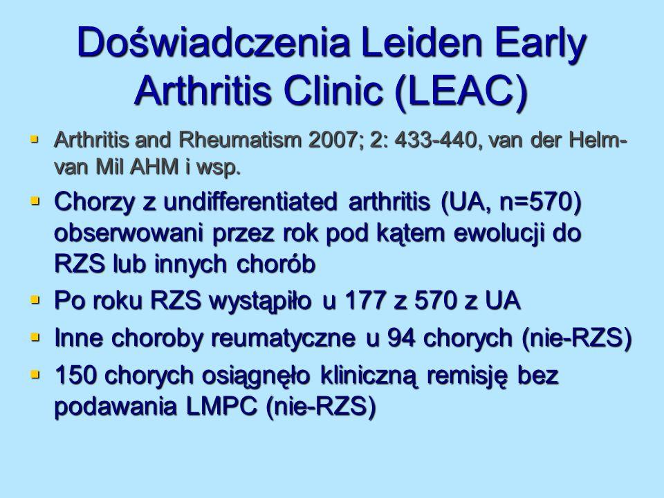 Doświadczenia Leiden Early Arthritis Clinic (LEAC)