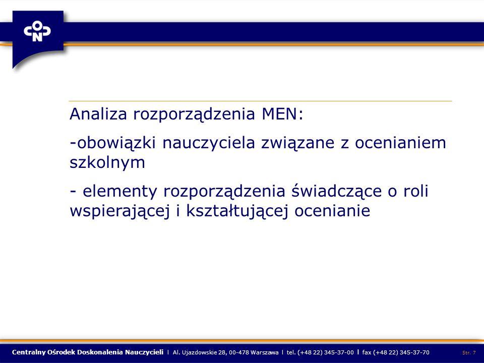 Analiza rozporządzenia MEN: