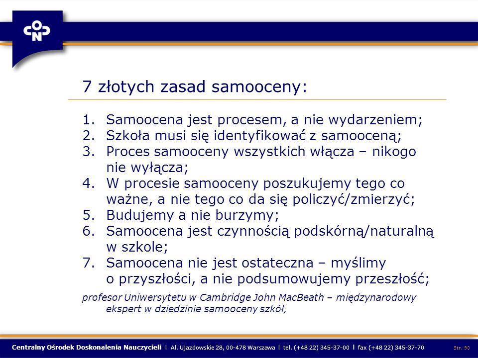 7 złotych zasad samooceny: