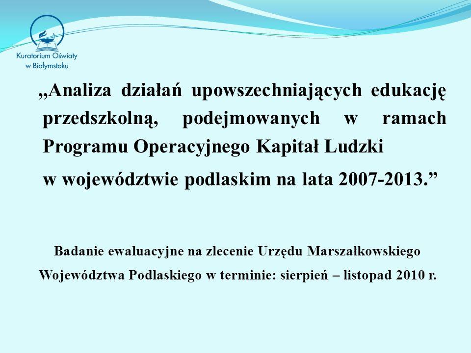 w województwie podlaskim na lata 2007-2013.