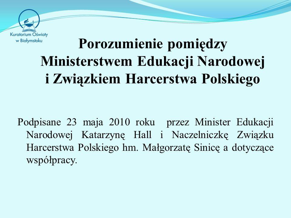 Porozumienie pomiędzy Ministerstwem Edukacji Narodowej i Związkiem Harcerstwa Polskiego