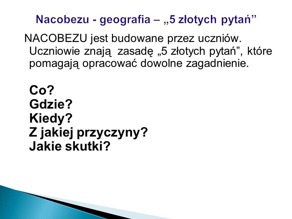 """Nacobezu - geografia – """"5 złotych pytań"""