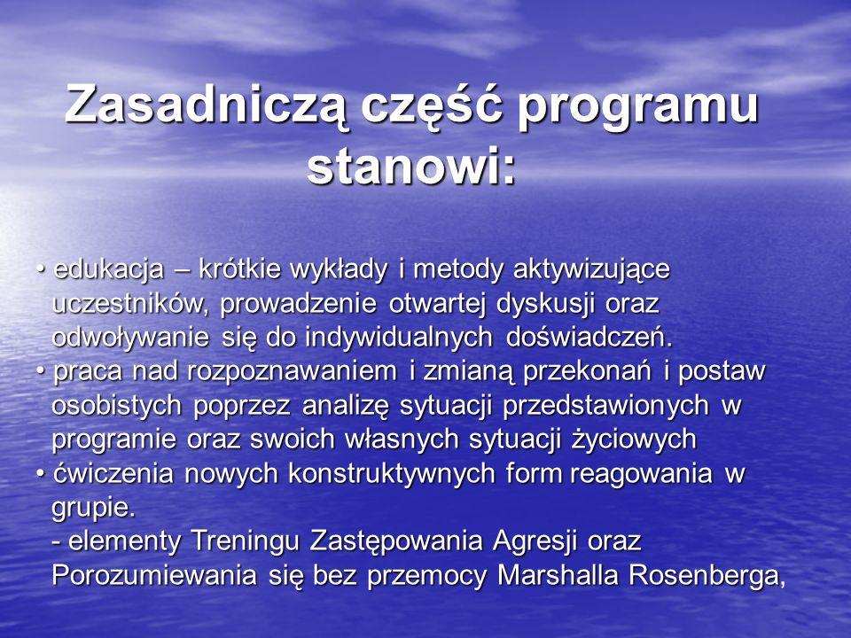 Zasadniczą część programu stanowi:
