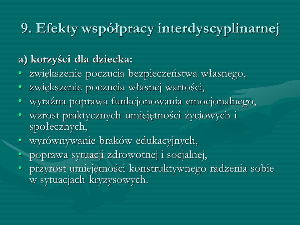 9. Efekty współpracy interdyscyplinarnej