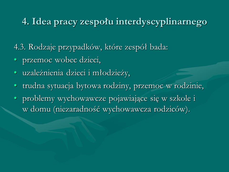 4. Idea pracy zespołu interdyscyplinarnego