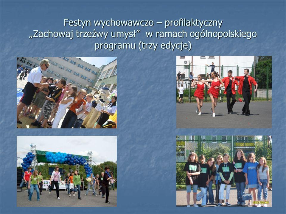 """Festyn wychowawczo – profilaktyczny """"Zachowaj trzeźwy umysł w ramach ogólnopolskiego programu (trzy edycje)"""