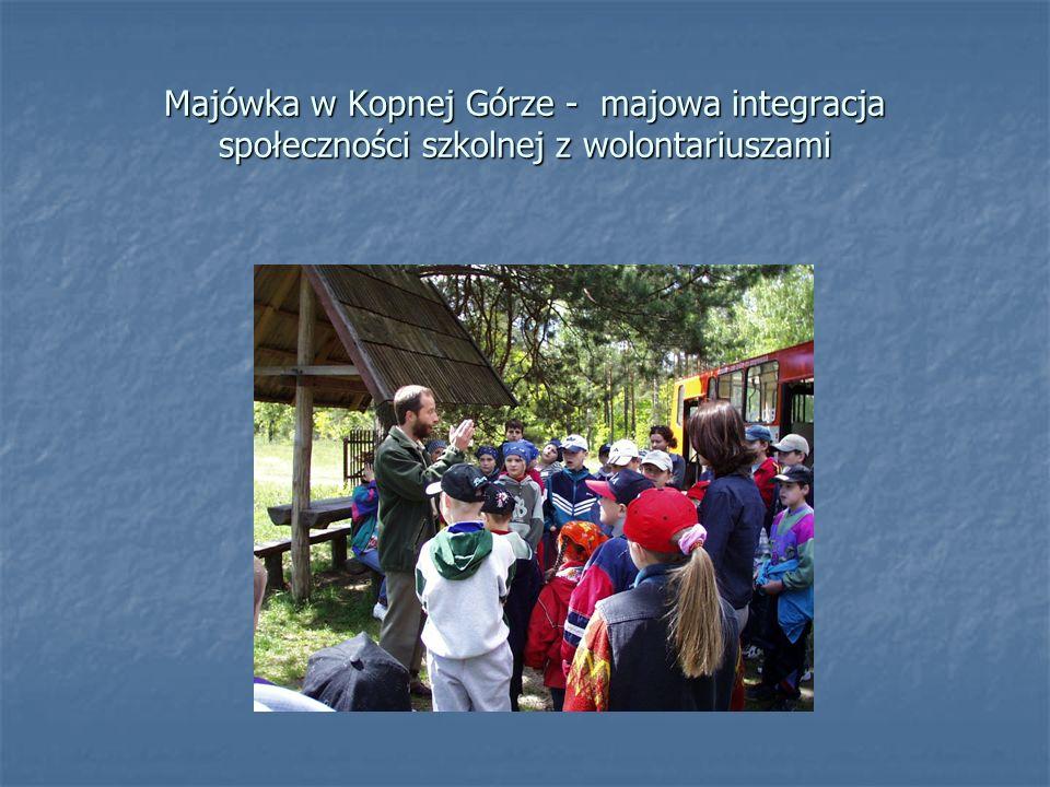 Majówka w Kopnej Górze - majowa integracja społeczności szkolnej z wolontariuszami