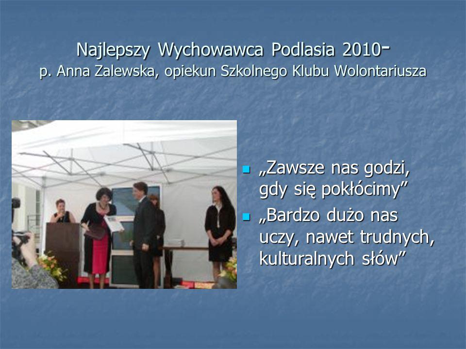 Najlepszy Wychowawca Podlasia 2010- p