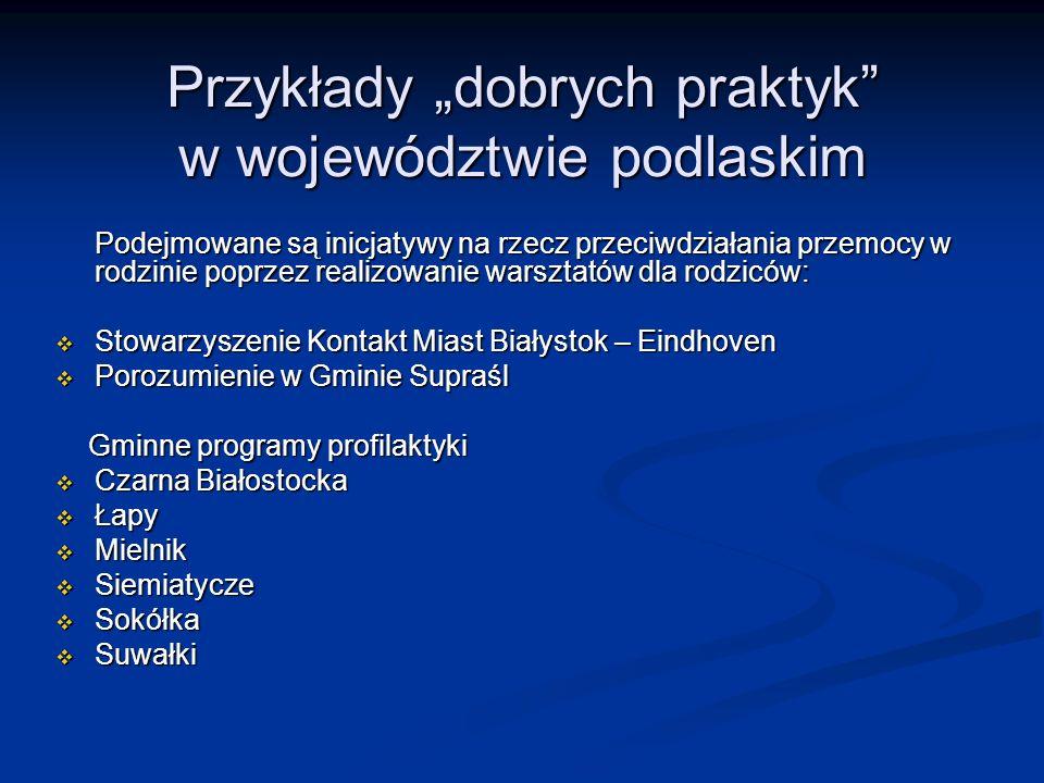 """Przykłady """"dobrych praktyk w województwie podlaskim"""