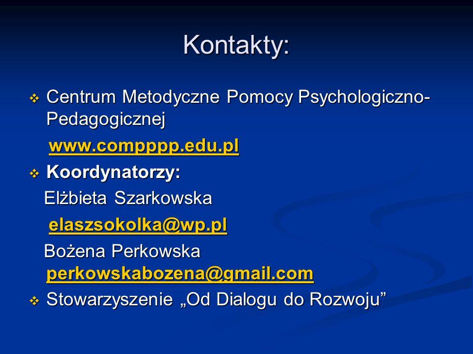 Kontakty: Centrum Metodyczne Pomocy Psychologiczno-Pedagogicznej