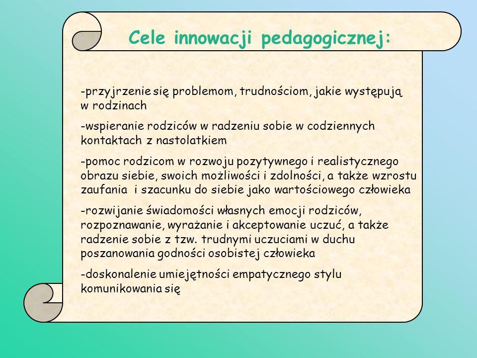 Cele innowacji pedagogicznej: