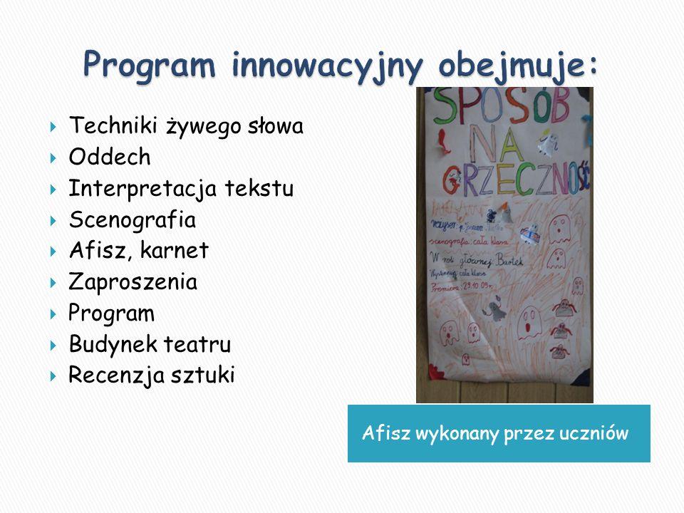 Program innowacyjny obejmuje: