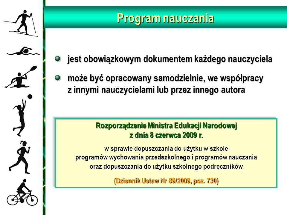 Program nauczania jest obowiązkowym dokumentem każdego nauczyciela