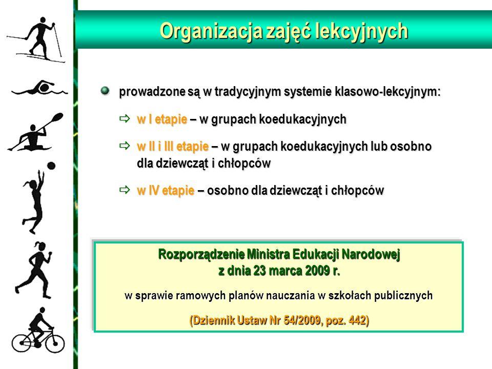 Organizacja zajęć lekcyjnych