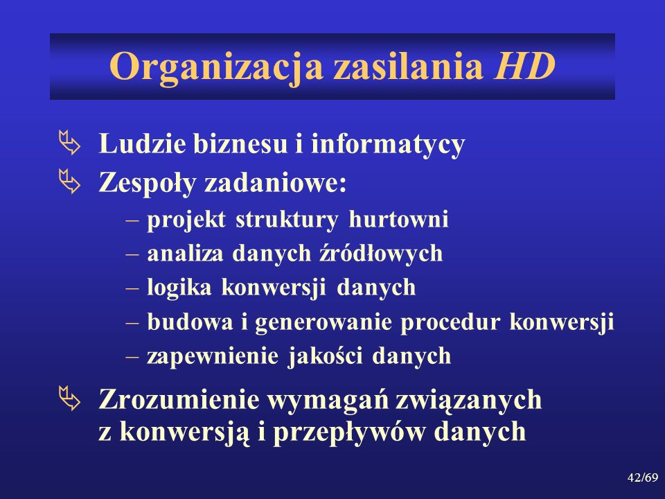 Organizacja zasilania HD