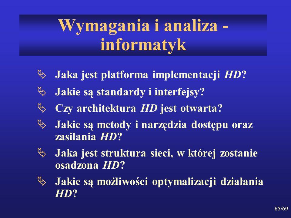 Wymagania i analiza - informatyk