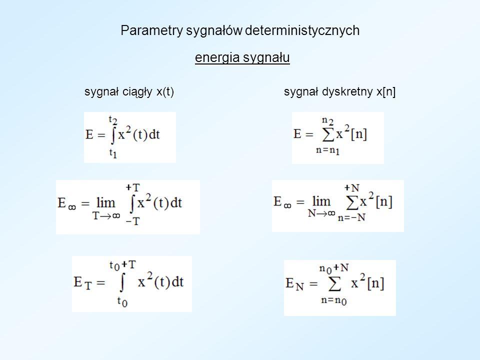 Parametry sygnałów deterministycznych