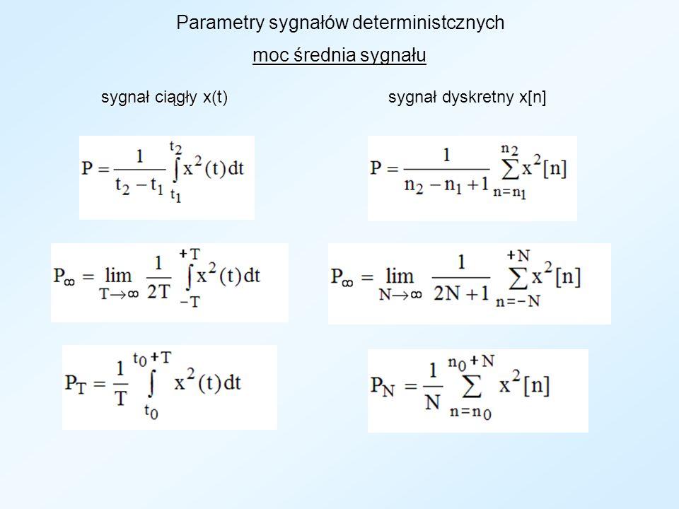 Parametry sygnałów deterministcznych
