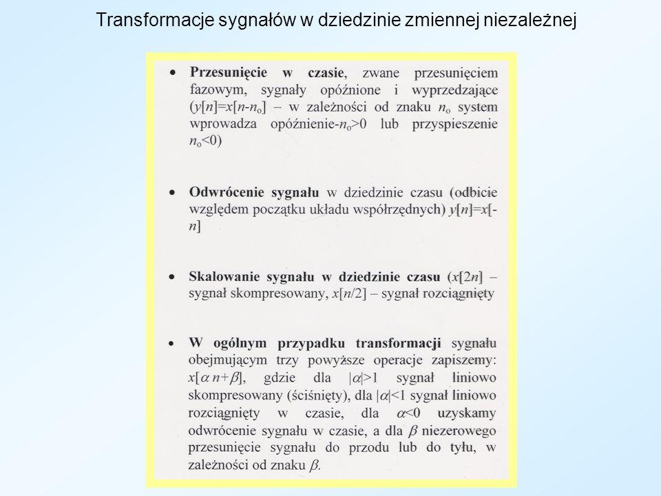 Transformacje sygnałów w dziedzinie zmiennej niezależnej