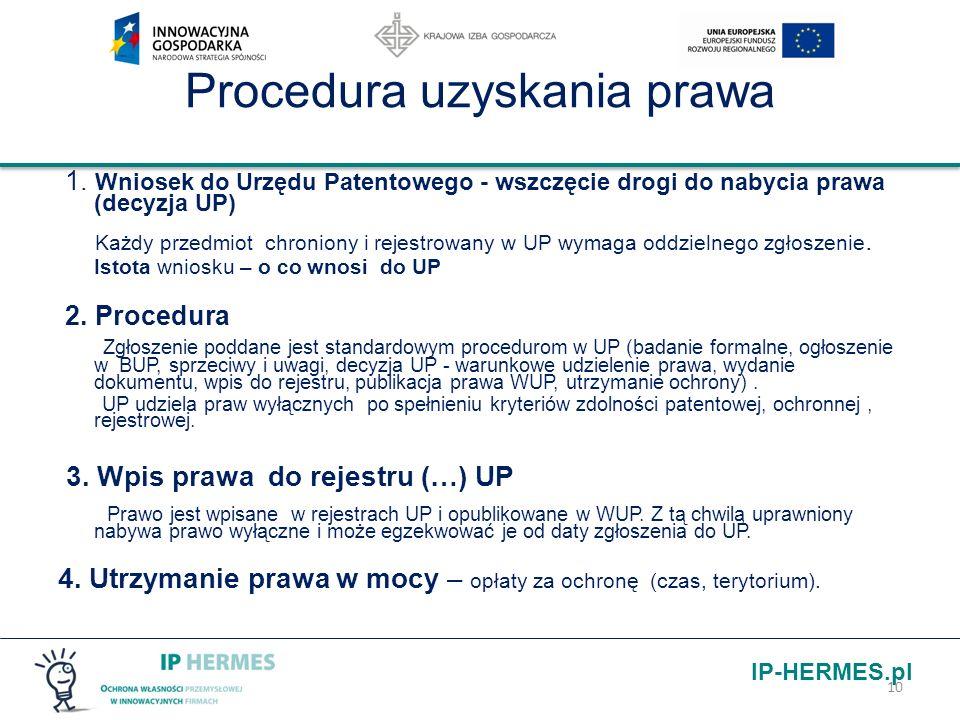 Procedura uzyskania prawa